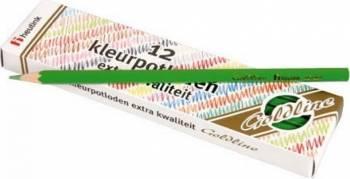 Set 12 creioane colorate Goldline 3.7 mm Verde deschis - Heutink Rechizite