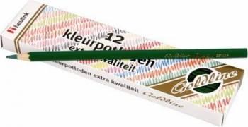 Set 12 creioane colorate Goldline 3.7 mm Verde inchis - Heutink Rechizite