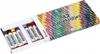 Set 12 creioane colorate pe baza de ulei - Heutink Rechizite
