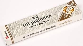 Set 12 creioane Goldline HB din lemn galben - Heutink