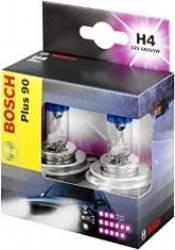 Set 2 becuri auto Bosch H4 12V 60 55W P43t Plus 90 Becuri si sigurante auto