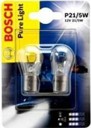Set 2 becuri auto Bosch P21 5W 12V BAY15d Blister