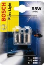 Set 2 becuri auto Bosch R5W 12V 5W BA15s Blister