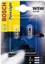 Set 2 becuri auto Bosch W5W 12V 5W W2.1X9.5d Blister