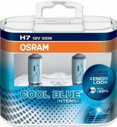 Set 2 becuri auto cu halogen pentru far Osram H7 12V 55W PX26 Cool Blue Intense Becuri si sigurante auto