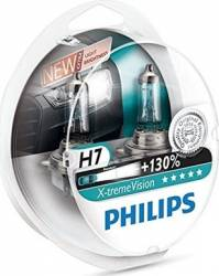 Set 2 becuri auto pentru far Philips H7 12V 55W PX26d X-Treme Vision Plus Becuri si sigurante auto