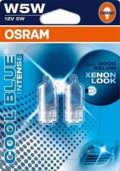 Set 2 becuri auto Osram W5W 12V Halogen Cool Blue Intense Blister