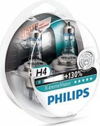 Set 2 becuri Philips H4 12V 60 55W P43t X-Treme Vision Plus