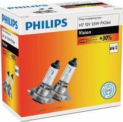 Set 2 becuri Philips H7 12V 55W PX26d Premium