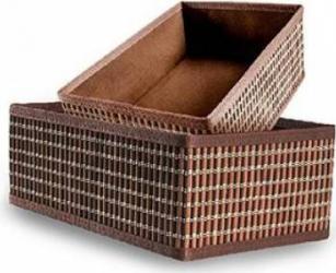 Set 2 Cosuri Heinner pentru Depozitare, Bambus 30X20x12 cm 26x16x10 cm Brown Mobila si Depozitare jucarii