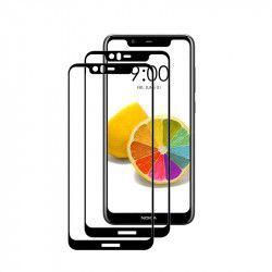 pret preturi Set 2 folii protectie sticla securizata fullsize pentru Nokia 5.1 Plus / X5 negru