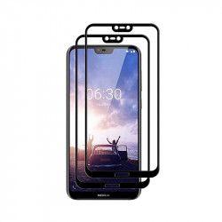 pret preturi Set 2 folii protectie sticla securizata fullsize pentru Nokia 6.1 Plus / X6 negru