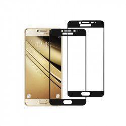 pret preturi Set 2 folii protectie sticla securizata fullsize pentru Samsung Galaxy C5 / C5 Pro negru