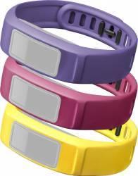 Set 3 Curele Interschimbabile pentru Garmin Vivofit 2 Small Galben Roz Violet Accesorii Smartwatch