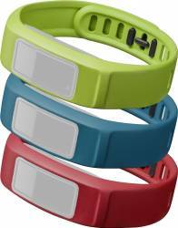 Set 3 Curele Interschimbabile pentru Garmin Vivofit 2 Small Rosu Albastru Verde