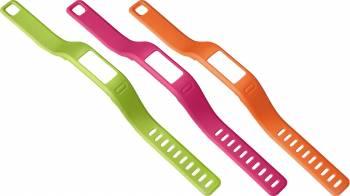 Set 3 Curele Interschimbabile pentru Garmin Vivofit Large Portocaliu Roz Verde Accesorii Smartwatch
