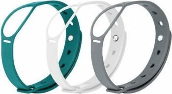 Set 3 curele Smartwatch Misfit Shine Alb-Gri-Albastru deschis