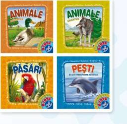 Set 4 carti pliante: Animale  Carti
