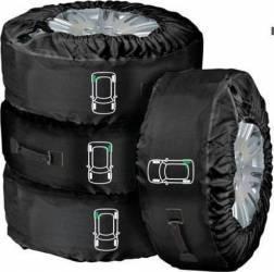 Set 4 genti-husa roata Lampa Tyre-Wrap De-luxe marimea L Huse
