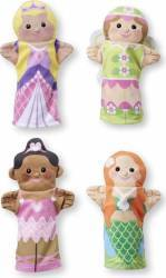 Set 4 papusi de mana Printese Melissa and Doug Papusi figurine si accesorii papusi