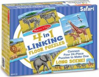 Set 4 puzzle podea conectabile Safari Puzzle si Lego