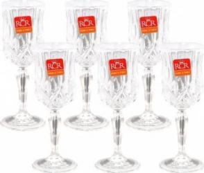 Set 6 Pahare Vin Alb cu Picior RCR Opera  Vesela pentru masa
