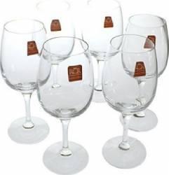 Set 6 Pahare Vin cu Picior RCR Daily  Vesela pentru masa