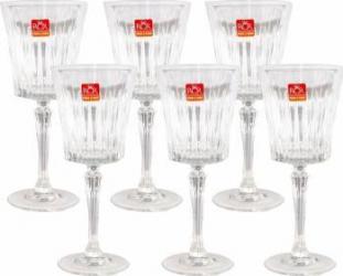 Set 6 Pahare Vin cu Picior RCR Timeless  Vesela pentru masa