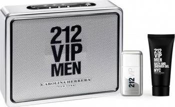 Set Apa De Toaleta 212 Vip Men 50ml + Gel De Dus 75ml by Carolina Herrera Barbati Parfumuri de barbati