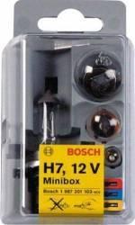 Set becuri auto Bosch Minibox H7 Becuri si sigurante auto