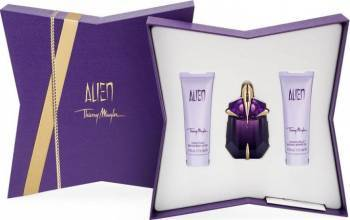 pret preturi Set Cadou Apa de Parfum Alien 30 ml + Gel de Dus 50 ml + Lotiune de Corp 50 ml by Thierry Mugler Femei