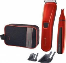 Set cadou aparat de tuns + Trimmer pentru nas si urechi Remington Precision Cut Limited Edition Acumulator Lame AcuAngle Aparate de tuns