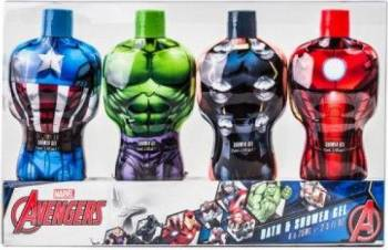 Set cadou Marvel Avengers Hulk Shower Gel 75ml + Thor Shower Gel 75ml + Iron Man Shower Gel 75ml + Captain America Showe Seturi Cadou