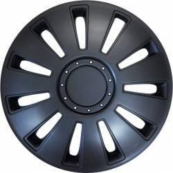 Set capace roti Mega Drive Silverstone Black 16 inch Scule auto & Accesorii