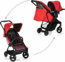 Set Carucior Acrobat Shopn Drive Fishbone Red - Icoo Carucioare copii