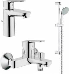 Set complet baterii baie Grohe BauEdge set dus bara-GRO112927 Baterii sanitare