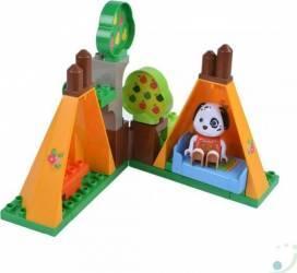 Set constructie cuburi Unico Maximilian Families In camping 29 piese Jucarii de Plus