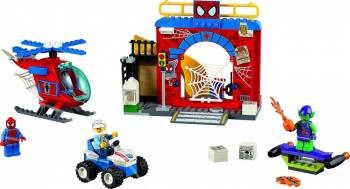 Set Constructie Lego Juniors Ascunzisul Lui Spiderman Puzzle si Lego