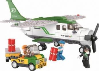 SLUBAN Set de constructie Avion Cargo 6 ani+ Lego