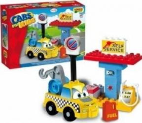 Set constructie Unico Plus Cars for Kidz Masina tractare Lego