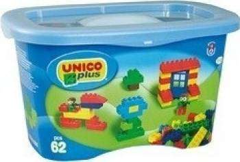 Set constructie Unico Plus Galetusa 62 piese Lego