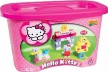 Set constructie Unico Plus Hello Kitty Galetusa 73 piese Seturi de constructie