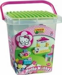 Set constructie Unico Plus Hello Kitty Galetusa cu placa de montat 104 piese Lego