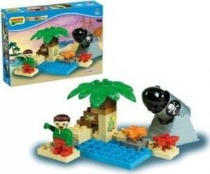 Set constructie Unico Plus Set Pirati mic Lego