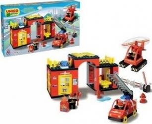 Set constructie Unico Plus Set statie Pompieri Seturi de constructie
