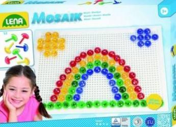 Set creatie si constructie Mozaic Lena Tablita Alba 120 piese Jucarii