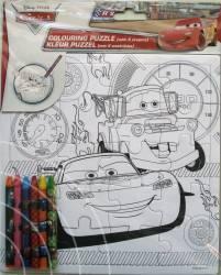 Set Creativ Desen Cu Puzzle Si Creioane Colorate Wo Cars