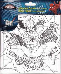 Set Creativ Desen Cu Puzzle Si Creioane Colorate Wo Spiderman 1
