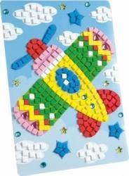 Set creativitate Mozaic din burete Avion 405 piese Jucarii Interactive