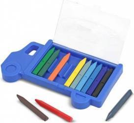 Set creioane colorate triunghiulare Truck Melissa and Doug 12 buc Rechizite